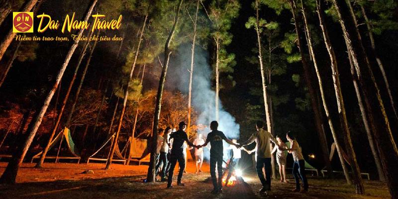 campfire in Moc Chau